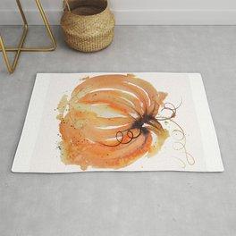Abstract Watercolor Pumpkin Rug