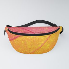 the leaf close up view - beautiful nature photo Fanny Pack