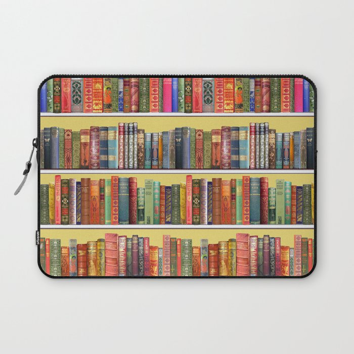 Christmas books antique vintage library Laptop Sleeve