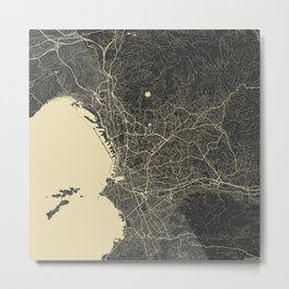 Marseille map Metal Print