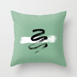 Minimal Abstract Jungle Snake Throw Pillow