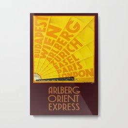 Arlberg Orient Express 1931 Vintage Travel Poster Metal Print