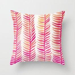 Pink Ombré Seaweed Throw Pillow