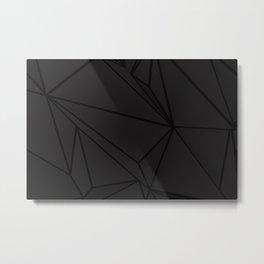 Black Polygon Polyganal Mask Metal Print