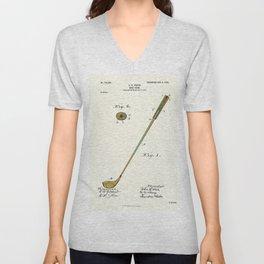 Golf Club Patent - Circa 1903 Unisex V-Neck