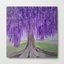 Purple Fantasy Willow tree Metal Print
