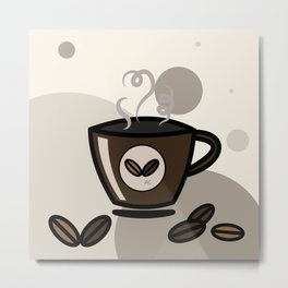 Espresso coffee mug Metal Print