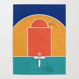 Shoot Hoops | Aerial Illustration Poster