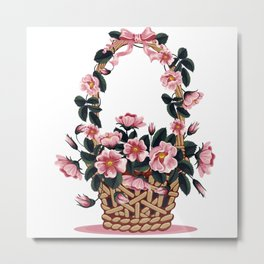 Beautiful Flower Basket Metal Print
