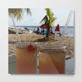 Rum on the beach Metal Print