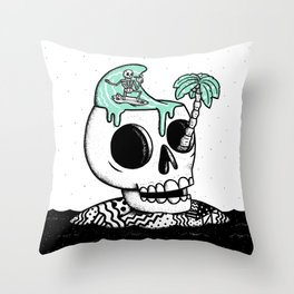 Surfer Thoughts Throw Pillow