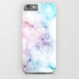 Rainbow Love Touch of Fantasy Faux Marble Pattern iPhone Case
