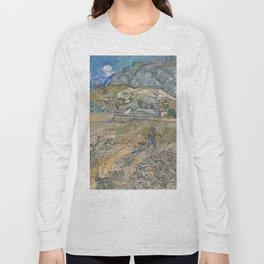 Vincent van Gogh - Landscape at Saint-Rémy (Enclosed Field with Peasant) (1889) Long Sleeve T-shirt