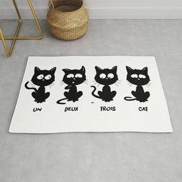 Un, deux, trois, cat Rug
