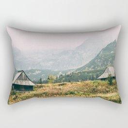 Hala Gasienicowa Autumn   Tatra Mountains Poland Rectangular Pillow