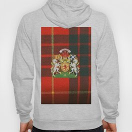 RED & GREEN CAMERON TARTAN ROYAL SCOTLAND Hoody