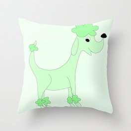 GREEN POSH PAWS Throw Pillow
