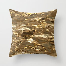 Gold Metal Throw Pillow