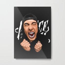 Vic Fuentes Vexel Art Metal Print