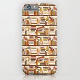 Bookshelf Pattern Light iPhone Case