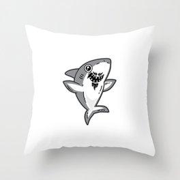 Grandpa Shark - Shark Grandpa Throw Pillow