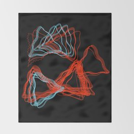 Abstract Contours Throw Blanket