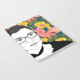 Ruth Bader Ginsburg Floral Notebook