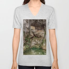 The Holy Cave of Covadonga Unisex V-Neck