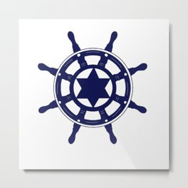 Steering Wheel Metal Print