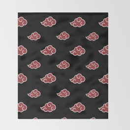 Akatsuki Clouds Throw Blanket
