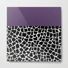 British Mosaic Purple Boarder Metal Print
