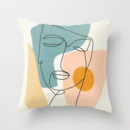 Abstract Face 25 Throw Pillow