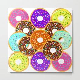 Doughnut Disturb Me When I'm Eating Metal Print