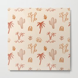 Californian dream- Boho Summer Tropical Print Metal Print