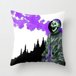 Silent Scream - Purple Throw Pillow