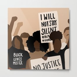 BLACK LIVES MATTER PROTESTERS Metal Print