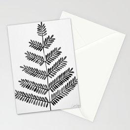 Black Leaflets Stationery Cards