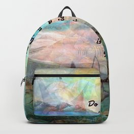 Rumi Inspiration Quote About The Universe With Beautiful Ocean Art Backpack