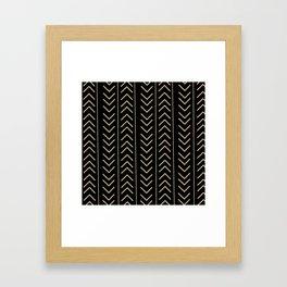 Mudcloth Black Framed Art Print