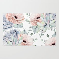 Pretty Succulents by Nature Magick Rug