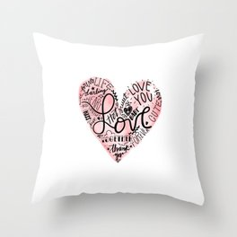 Happy National Valentines Day Throw Pillow