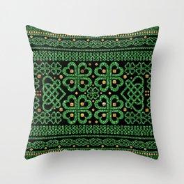 Shamrock Four-leaf Clover Celtic Ornament Throw Pillow