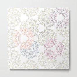 FlowerNet Metal Print