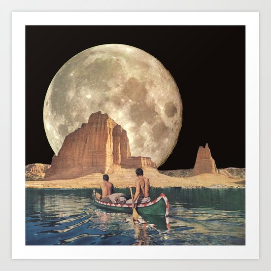 MOON RIVER by bethhoeckelcollage