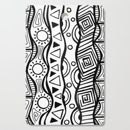 Four Waves - Freestyle Tribal Doodle Design Cutting Board