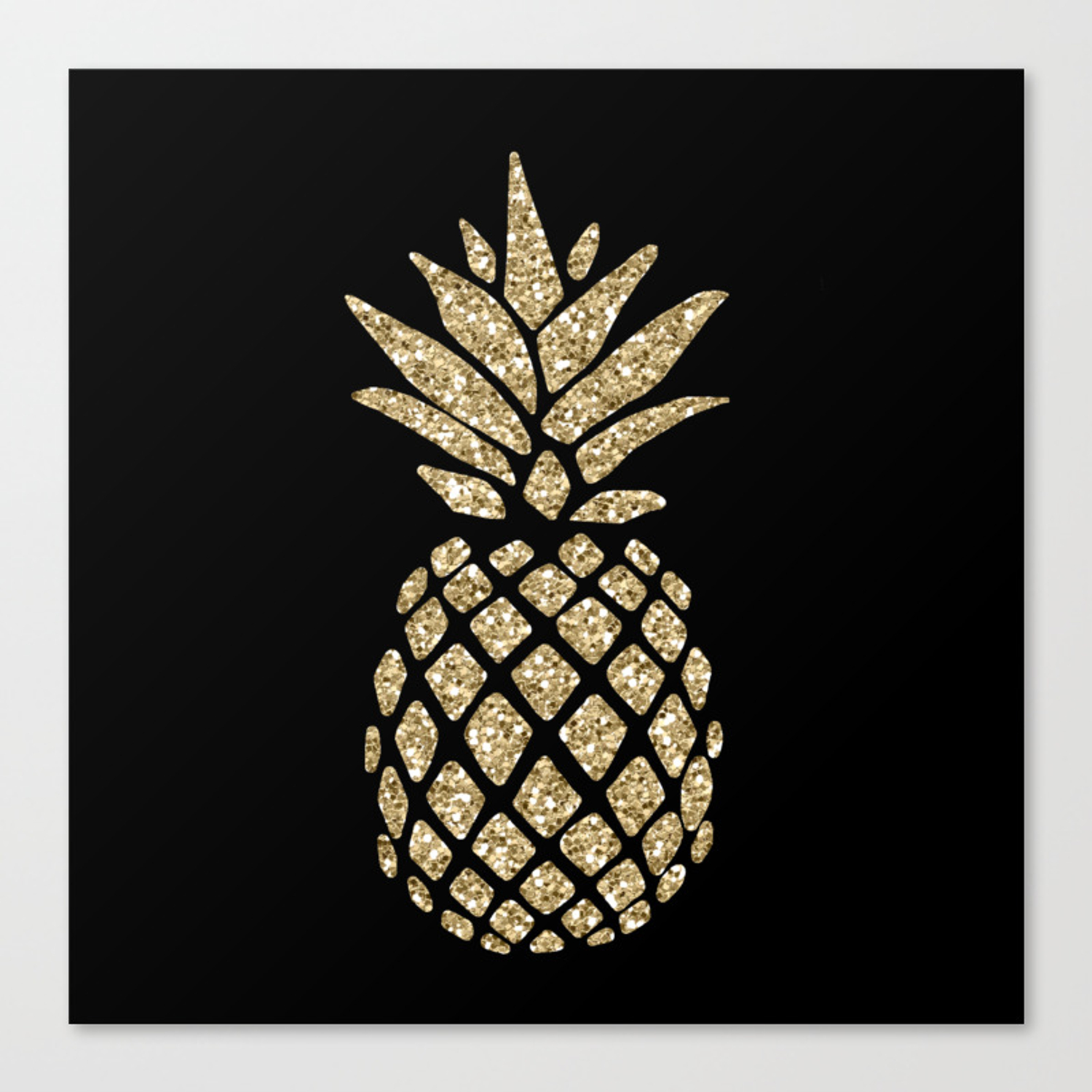 Package of Pineapple Glitter Stickers The Paper Studio PINEAPPLE GLITTER