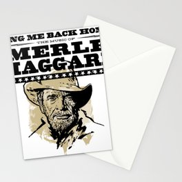 MERLE HAGGARD SING ME BACK HOME TOUR DATES 2019 MELATI Stationery Cards