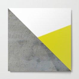 Concrete vs Corn Yellow Metal Print