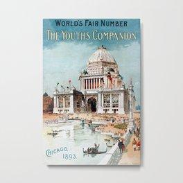 Vintage 1893 Chicago World's fair expo Metal Print