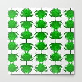 Fan Leaf Tropical Palm Egyptian Leaf Vegetation Pattern Metal Print